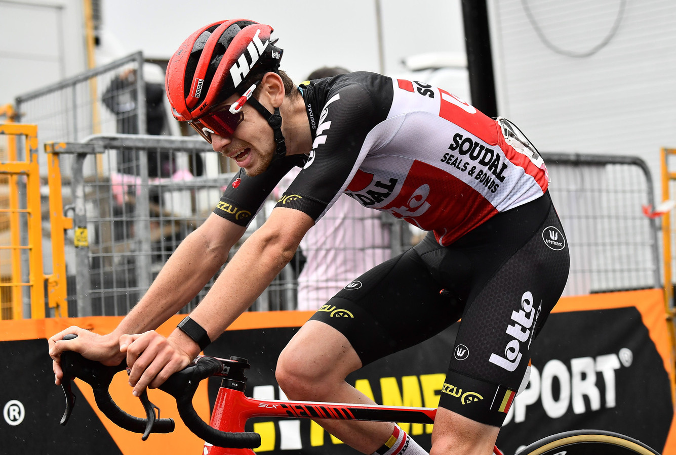 Harm Vanhoucke werd derde op de Etna.