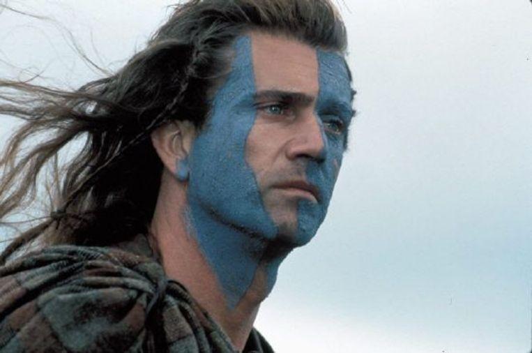 Mel Gibson in Braveheart. Beeld =