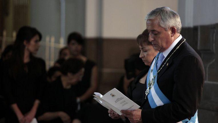 De nieuwe president van Guatemala, Otto Perez Molina Beeld null