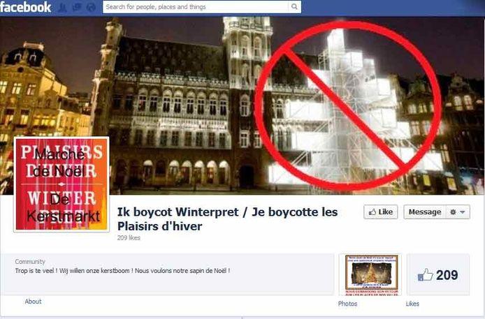 """Des appels au boycott des """"Plaisirs d'Hiver"""" ont vu le jour sur les réseaux sociaux, comme Facebook."""