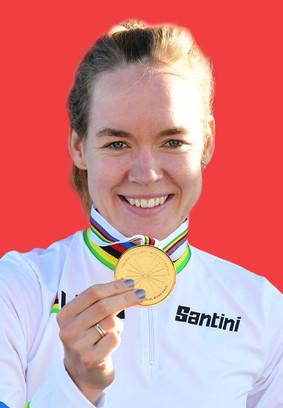 Anna van Breggen pakte dit jaar goud tijdens het de individuele tijdrit in Imola.