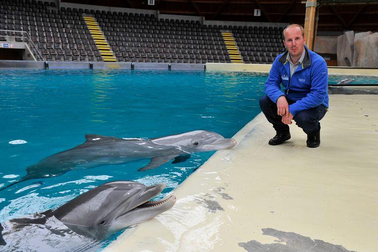 Lars van den Ham bij de dolfijnen