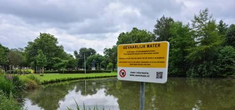 Gevaarlijk water in het Hortensiapark