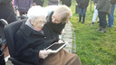 Jannetje Jasperse met iPad.