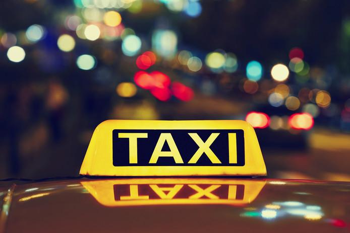 Taxibord, foto ter illustratie