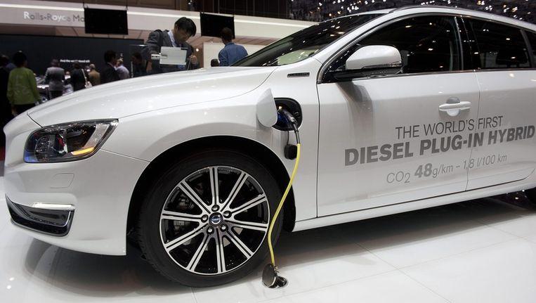 Een populaire hybride auto: de Volvo V60 Plug-in Hybrid. Beeld EPA