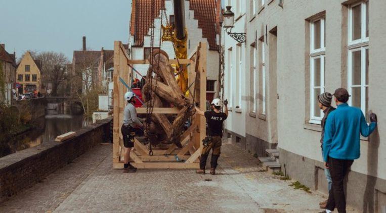 Work in progress voor de Triënnale in Brugge. Beeld rv