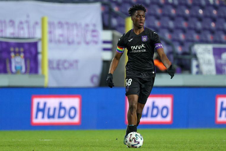 Anderlecht-aanvoerder Albert Sambi Lokonga mag zich Rode Duivel noemen. Beeld Photo News