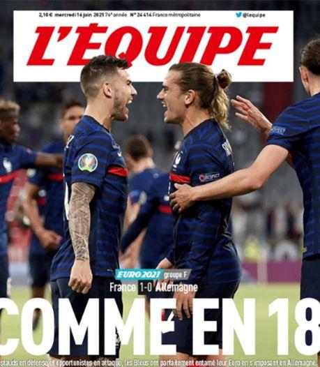 """""""Comme en 18"""": la Une polémique de l'Équipe après France-Allemagne"""