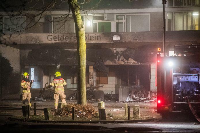 Brand Arnhem geldersplein jaarwisseling