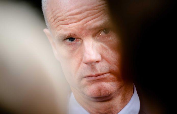 Demissionair minister Stef Blok van Economische Zaken (VVD) staat de pers te woord, na afloop van een kabinetsoverleg over de stijgende gasprijzen.