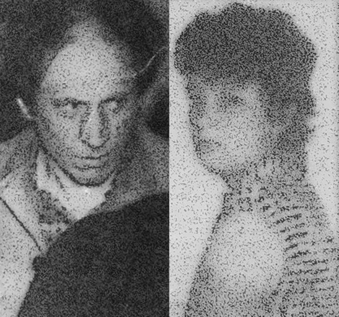Slachtoffer Marie-Paule Wovra (rechts) en een van haar minnaars Gerard Verlinden.