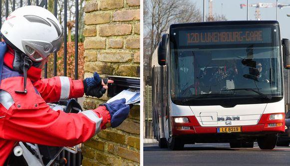 Nog maar twee keer bedeling per week van niet-dringende post en gratis openbaar vervoer in het Groothertogdom Luxemburg vanaf 1 maart.