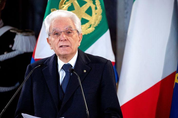 De Italiaanse president Sergio Mattarella.