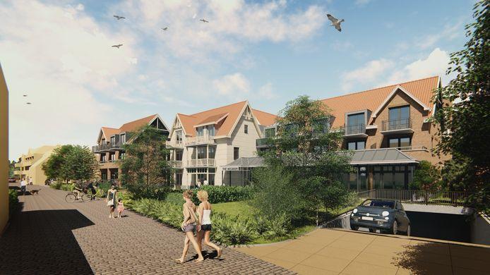 Artist Impression van het nieuwe hotel The Wigwam in Domburg