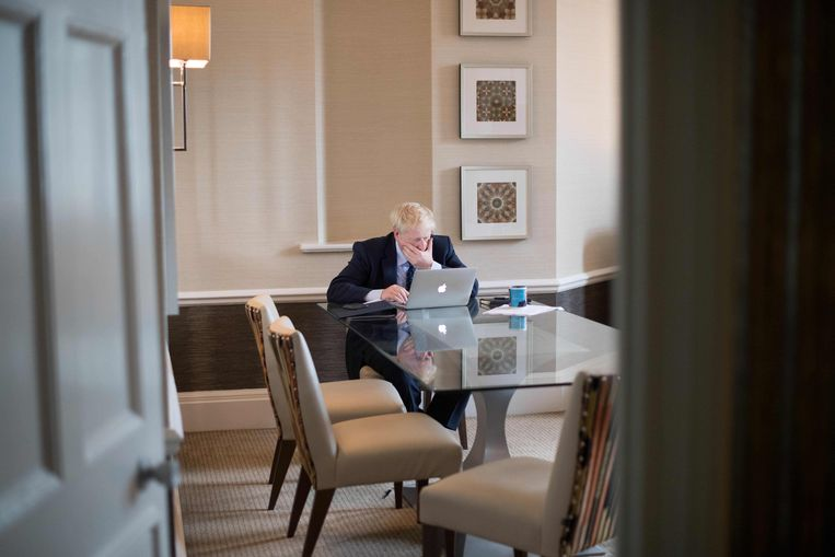 De Britse premier Boris Johnson. Beeld AFP