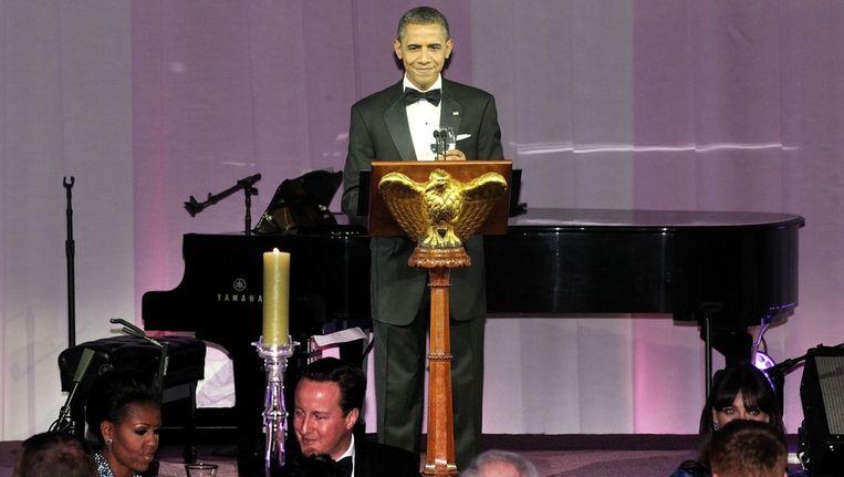 President Obama ontving gisteravond de Britse premier Cameron. Beeld epa
