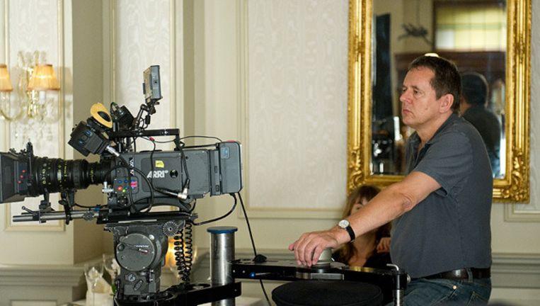 Regisseur Dick Maas op de set tijdens de opnames van de thriller Quiz. © anp Beeld