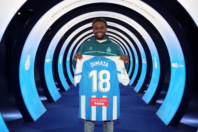 Dimata bij z'n voorstelling bij RCD Espanyol de Barcelona.