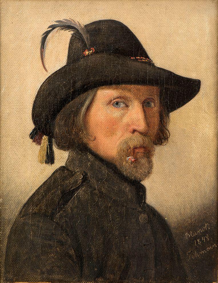 Zelfportret van Ditlev (Detlef) Blunck (1798-1854).  Beeld Getty Images