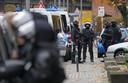 De politieactie in Berlijn waarbij drie verdachten werden opgepakt.