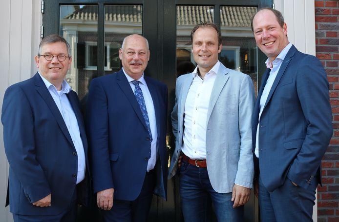 De wethouders van Aalten, met uiterst rechts Ted Kok, genomineerd als beste bestuurder.