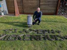 Letters van oud Sint-Joseph Ziekenhuis in Eindhoven  duiken op