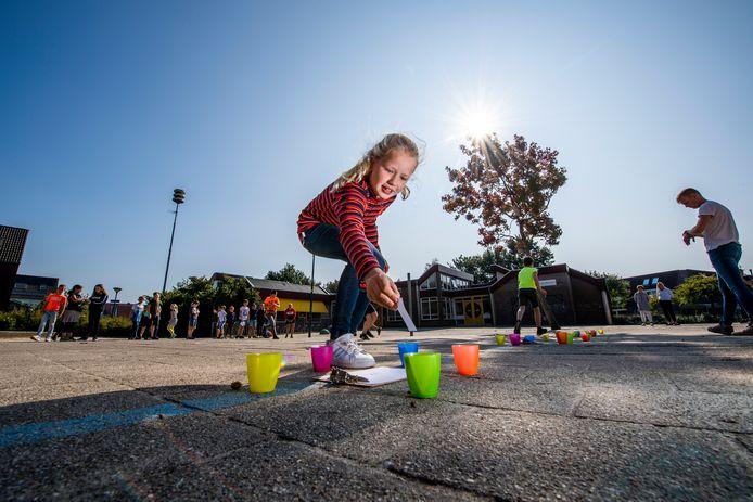 Nationale buitenlesdag op de Franciscusschool in Woerden. Foto: Frank de Roo