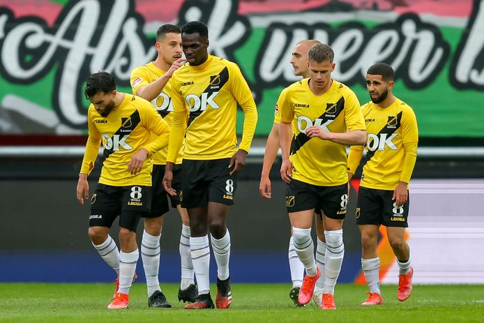 Vreugde na de 0-1 van El Allouchi