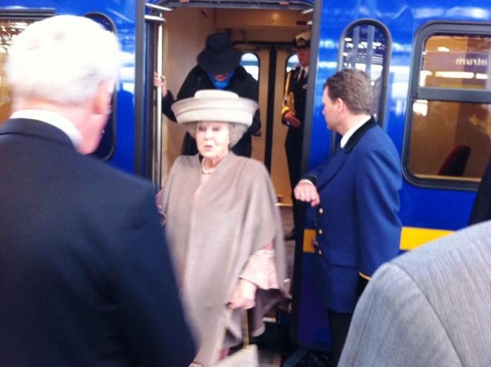 De aankomst van de koningin in Lelystad. Foto: Jelle Boonstra