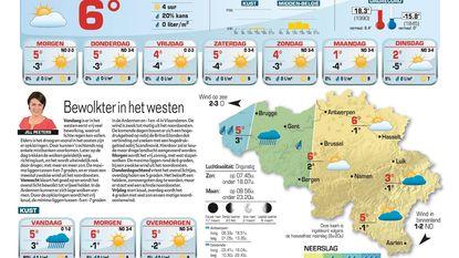 Bewolkter in het westen