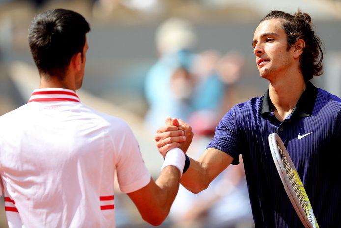 Héroïque pendant deux sets contre Novak Djokovic, Lorenzo Musetti a jeté l'éponge à 0-4 au cinquième set.