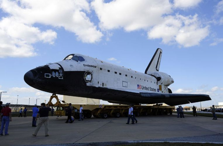 In februari begon het oplapwerk voor de laatste missie van het ruimteveer. Beeld UNKNOWN