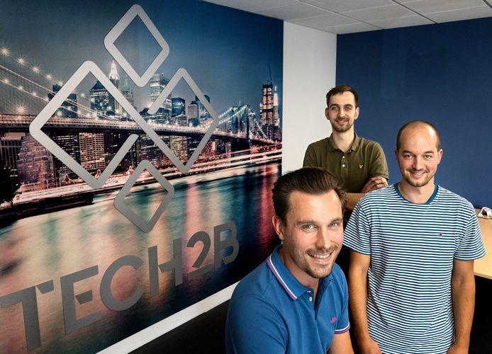 Tech2B lanceert een platform voor de Britse maakindustrie. Oprichters van Tech2B Sjors Hooijen (L) met Paul Wouters(R) en Dirk Wouters.
