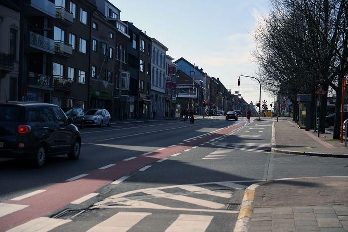 De Naamsesteenweg in Leuven.