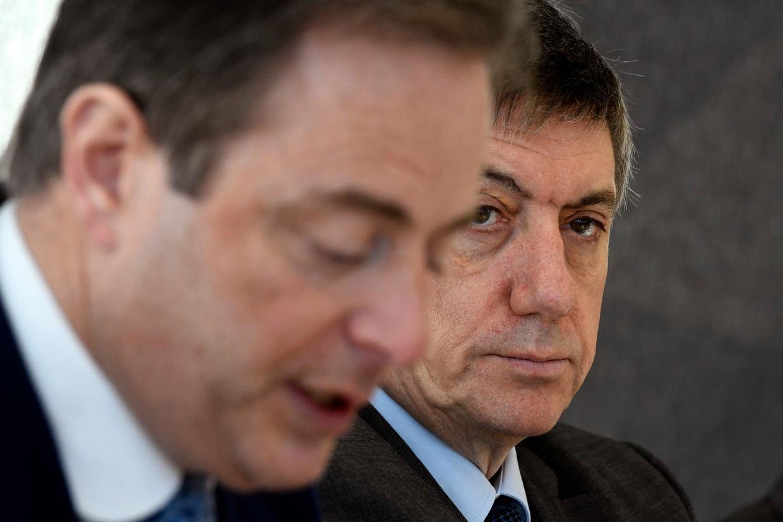 Bart De Wever en Jan Jambon (N-VA).  Beeld Photo News
