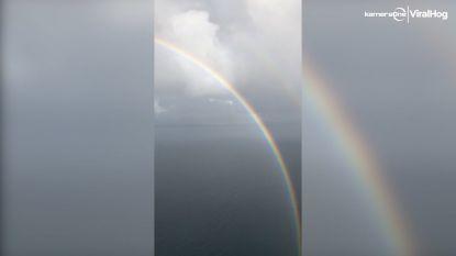 Bijzondere cirkelvormige regenboog gefilmd in Brazilië