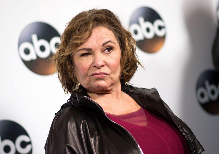 tv-ster Roseanne Barr wordt door ABC de deur gewezen na een zoveelse racistische tweet Beeld AFP