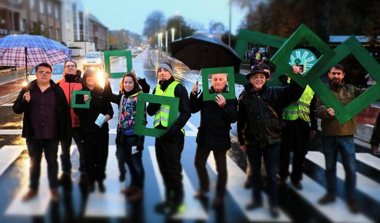Ook Groen voerde actie voor meer veiligheid aan de Pottelberg.