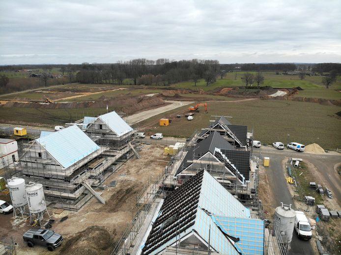 In de grote wijk Bornsche Maten wordt nog volop gebouwd.
