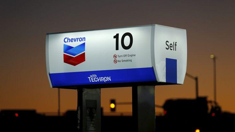 Een tankstation van de Amerikaanse oliemaatschappij Chevron. Beeld epa