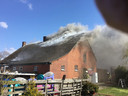 Brand in boerderij in Achtmaal.