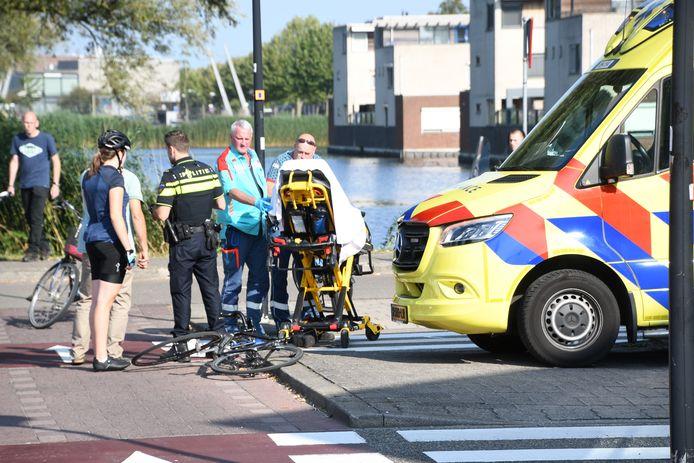 De ambulance op de Steinhagenseweg.