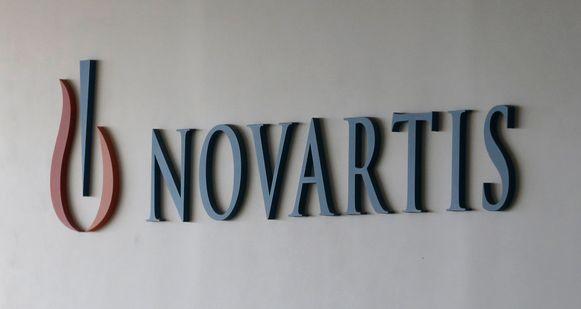 Het logo van Novartis