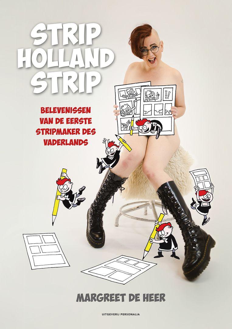 Een bloto van Margreet de Heer op de cover van Strip Holland Strip. Beeld Margreet de Heer