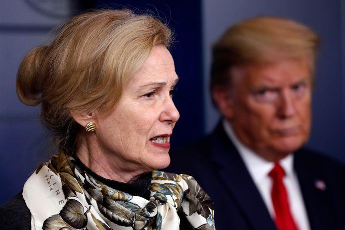 Voormalig president Donald Trump en Dr. Deborah Birx