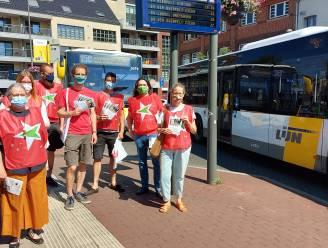 """Protest tegen enorme besparingen bij de Lijn: """"1 op 4 Kempense bushaltes verdwijnt. Dit is een aanval op ons openbaar vervoer"""""""