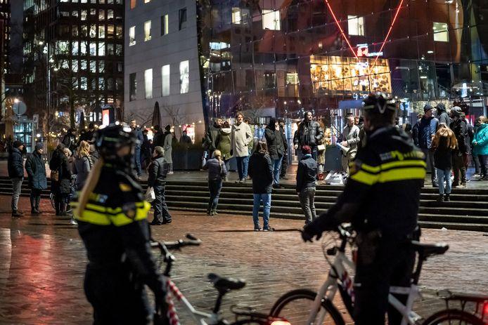 Op actievoerders bij de Markthal na, was het in Rotterdam afgelopen weekend rustig.