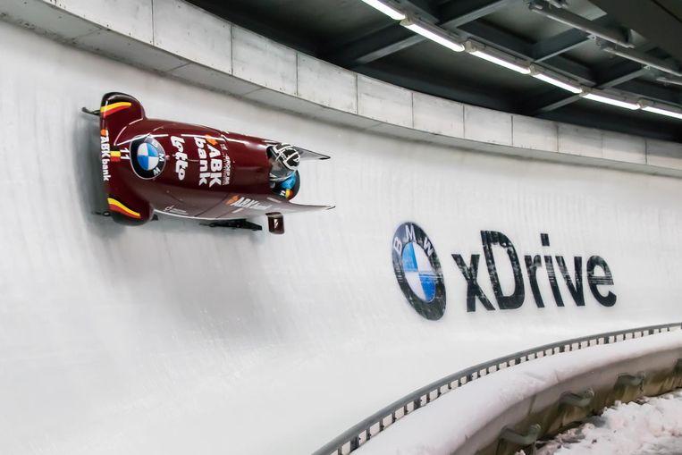 In haar bobslee haalt An snelheden tot 130 kilometer per uur.