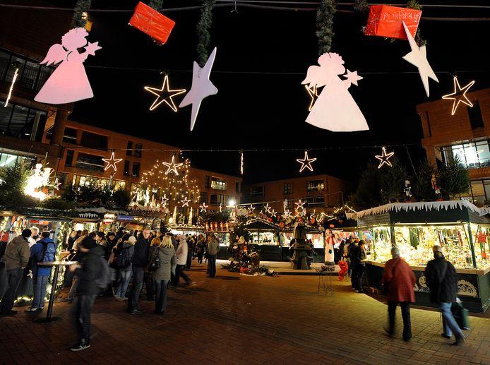 De Duitse kerstmarkten, zoals in Münster, zijn ieder jaar in trek bij Nederlanders.